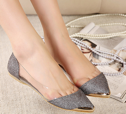 Chic Metal Pointed Closed Toe