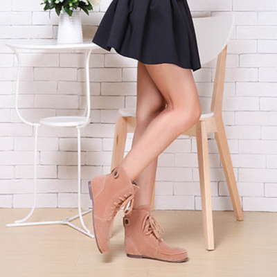 Lace Ankle Roman Boot