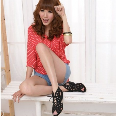 Lace Open Low Wedges