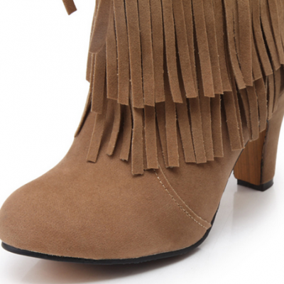 Pointed High Heel Boots