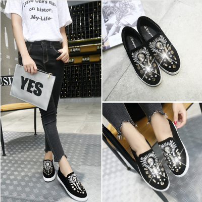 Round Toe Top Crystal Loafer