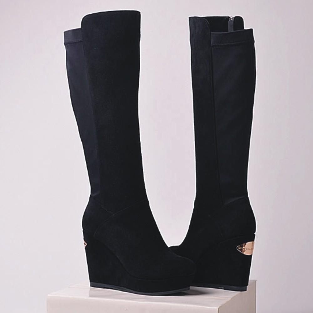 68d17096fa4 Leather Boots Platform Wedges
