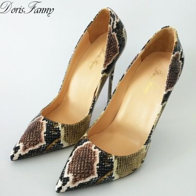 Snake Leather Stilettos